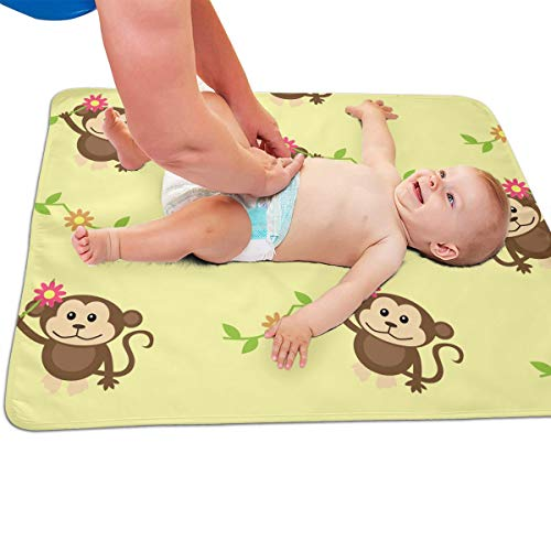 V5DGFJH.B Baby Portable Diaper Changing Pad Monkey Baby
