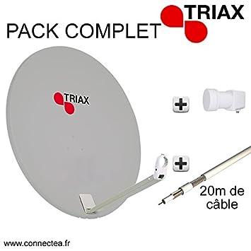 Triax ATD110 parabólica () 110 cm de señal satélite LNB ...