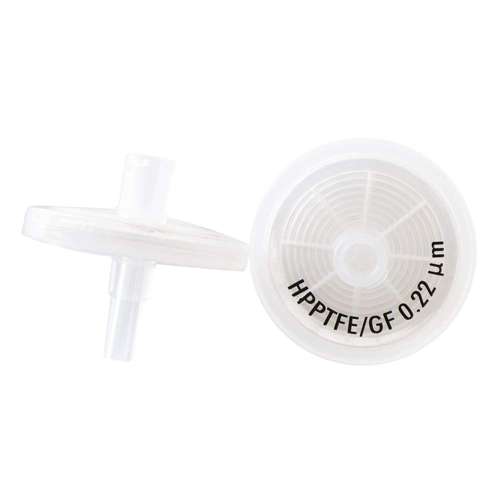 PTFE Membrane Syringe Filter with 0.7/μm Glass Fiber GF+HPPTFE, GF+ HPPTFE-25mm-0.45/μm GF Pack of 100 Pre-Filter Diameter 25mm Pore Size 0.45/μm by Allpure Biotechnology Refer to GD//X 6874-2504