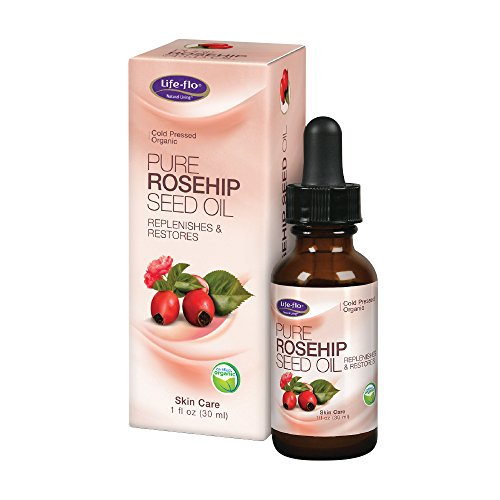 Life-Flo Pure Rosehip Seed Oil | Certified Organic & Cold Pressed | Authentic Rose Hip Oil for Face & Skin Restoration | Dry & Non-Greasy | 1 Ounce (Rose Health Hips)