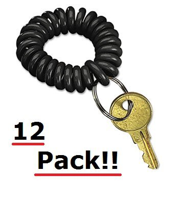 securitr-wrist-key-coil-wearable-key-organizer-flexible-coil-black-12-pack