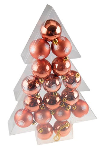 - Shatterproof Christmas Tree Ornaments by Clever Creations | Large Copper 60mm Christmas Decor | 17 Piece Set Perfect for Christmas Decorations