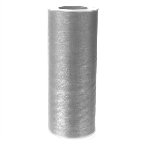 Homeford Firefly Imports Organza Spool Roll, 6-Inch, 25 Yards, Silver,