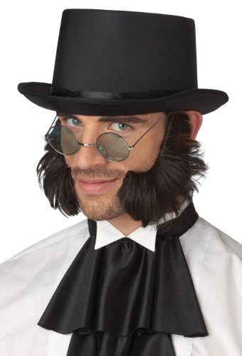 Facial Hair Halloween Costumes (California Costumes Psycho Mutton Chops, Dark Brown, One Size Costume Accessory)