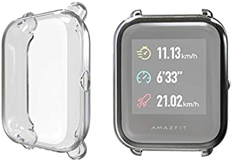 BAOBAO QUELLIA TPU Funda Protectora for el Xiaomi Huami Amazfit Bip Lite Versión 20 mm (Negro)