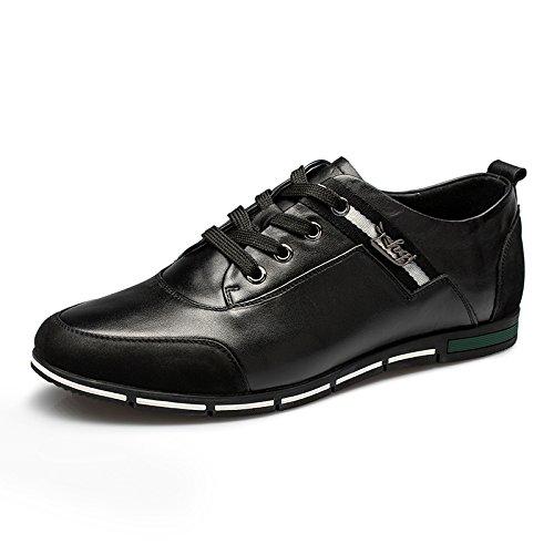 男 Aemember scarpe Primavera e autunno casual fascetta metallica Comfort Scarpe Uomo Scarpe Nero ,41,