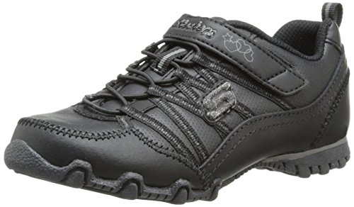 Skechers Girl Biker II School Star Uniform Sneaker, Old Black, Little Kid (4-8 Years), 12.5 M US Little Kid