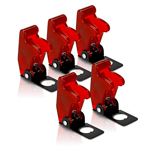- MGI SpeedWare Toggle Switch Safety Flip Covers 5 Pack (Red)