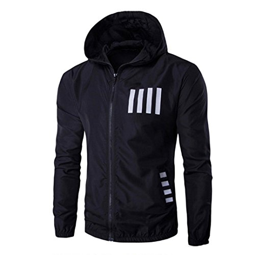 Men's Jacket,Laimeng Autumn Winter Hooded Printing Casual Polyester Jacket Blouse Coat (Black, L) (Type O Negative Summer Girl compare prices)