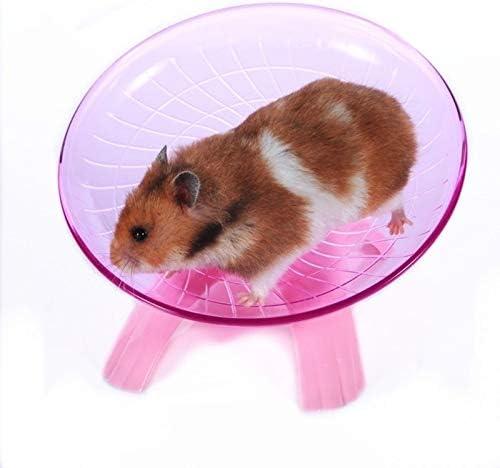 LZWNB Mascota hámster platillo Volante Rueda de Ejercicio hámster ratón Correr Disco Juguete Jaula Accesorios