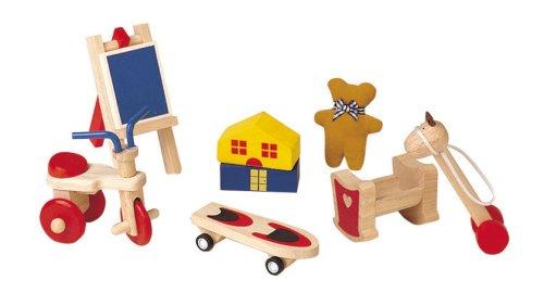 Plan-Toy-Doll-House-Fun-Toys-Set