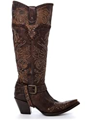 Corral Ladies Whip Stitch And Studs Tall Boot