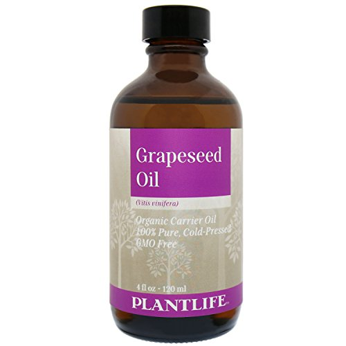 Organic Grapeseed Carrier Oil 4 oz - 100% Pure Cold Pressed Base Oil for Aromatherapy