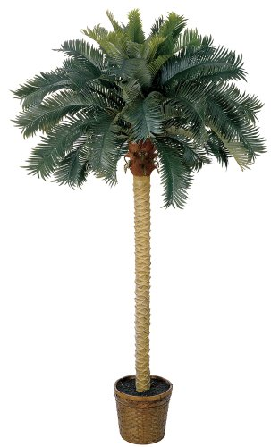 Nearly Natural 5107 Sago Palm Silk Tree, 6-Feet, - Palm Decorative Tree