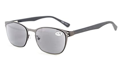 Eyekepper Lettori di occhiali di qualità cerniera a molla tempie lettura Gunmetal +0.75 ZfE6g4s1