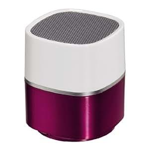Hama Pluto - Altavoz mini para móvil (2,2W, jack de 3,5mm), color blanco y rosa