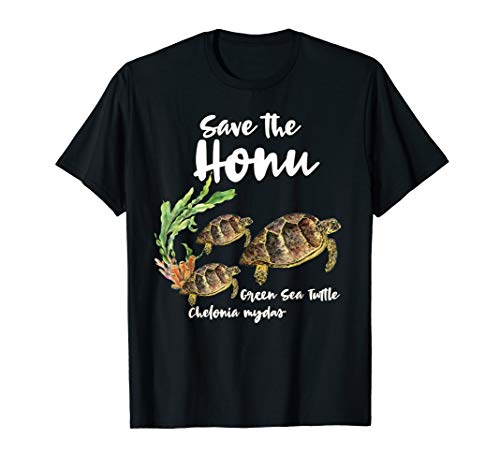 Save the Honu Green Sea Turtle Marine Ocean T-Shirt