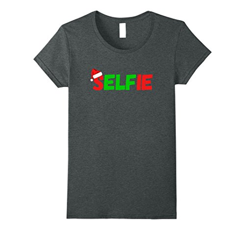 Womens Selfie Elf Funny Sexy Christmas Gift Shirt For Teens Adults Small Dark Heather Adult Sexy Christmas Elf