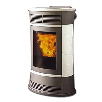 Edilkamin pellet Cherie 11 kW blanco precipitado de chimenea estufa de horno: Amazon.es: Bricolaje y herramientas