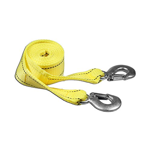 Buy Cheap AA Products Heavy Duty 6,600lbs Tow Straps with 2 Safety J Hooks - Length (2 X 10 ft)
