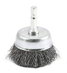 Forney 72729 Wire Cup Brush, Coarse Crim...