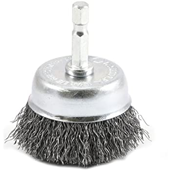 Forney Wire Cup Brush Knotted With Inch Threaded - Vinyl cup brush