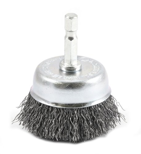 Forney 72729 Wire Cup Brush, Coarse Crimped with 1/4-Inch Hex Shank, 2-Inch-by-.012-Inch ()