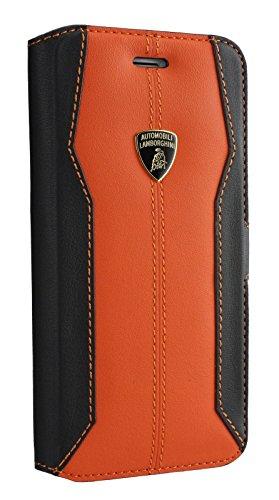 Lamborghini Huracan-D1 Leather Ultra Slim Flip Case for iPhone 7 Plus (Orange)