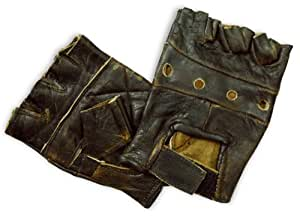 Interstate Leather Fingerless Gloves (Distressed Brown, XXX-Large)