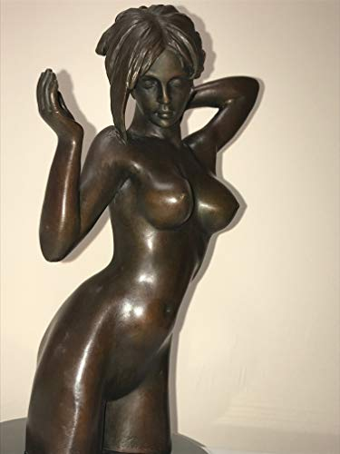 Bronze Brass Art sexy art for men - BRONZE STATUE - EUROPEAN STYLE - FULLY NAKED GIRL - BREASTS AND ASS - SHORT HAIR - UNIQUE - HIGH IN DETAILS - art statues and sculptures (Statue European Art Sculpture)