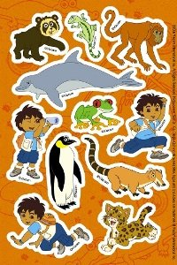 Go Diego Go Stickers (2 count)