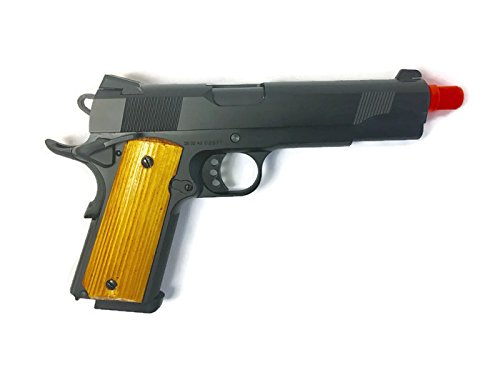 (BFT Airsoft GBB Gun Pistol - Spring Powered | MEU-1911 Wooden Grip Series!)
