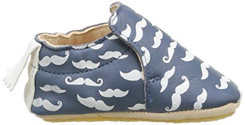 Easy Peasy Blublu Moustach Baby Jungen Krabbel- & Hausschuhe Blau - Bleu (640 Denim/Blanc)