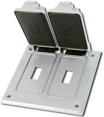 Greenfield C2TS2WS Series Weatherproof Electrical Outlet Box Cover, White