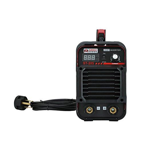 AMICO POWER XYST20502018 ST-205 Amp Lift-TIG Torch/Stick/Arc Welder, Red