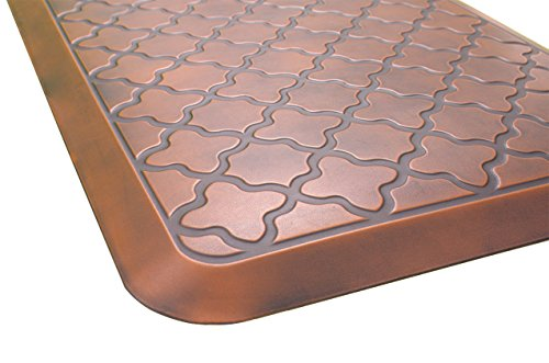 - Butterfly Anti-Fatigue 24 by 70 Inch Quatrefoil Kitchen Comfort Mat, Antique