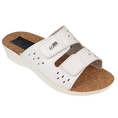 Buyazzo - Sandalias de vestir para mujer Weiß Kork 0116L1