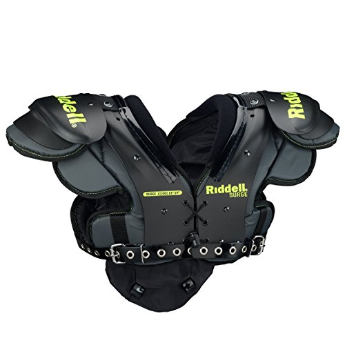 Riddell Sports Surge Youth Football Shoulder Pad Black/Volt, X-Small