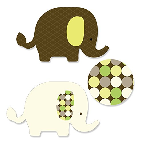 Baby Elephant - DIY Shaped Baby Shower or Birthday Party Cut-Outs - 24 Count