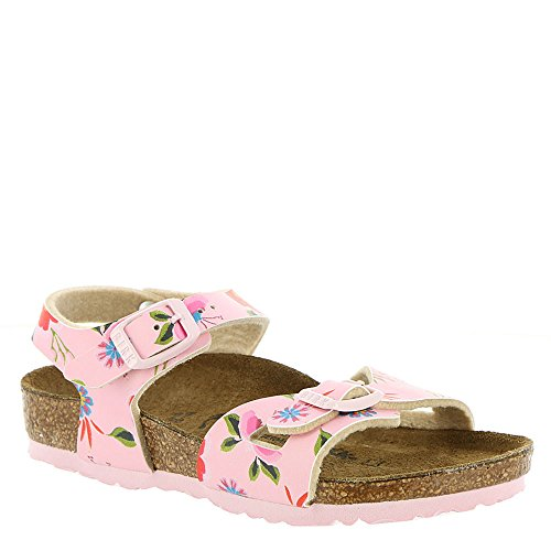 Birkenstock Kids Rio Sandal China Flowers Pink Birko Flor Size 29 N EU / 11-11.5 N US Little -
