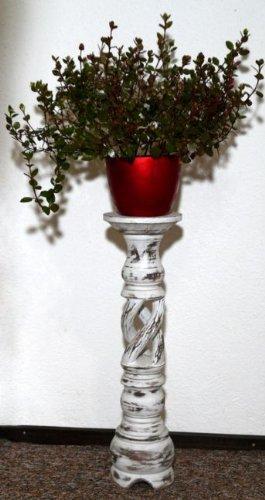 Blumensäule Holz Blumenständer Mediterraner Stil Blumentisch BLST02