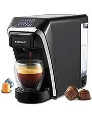 CHULUX-koffiemachine met capsules, 12-ounce snelle zetmachine-brouwer, compatibel met pads en herbruikbare filters, automatische uitschakeling, bediening met één knop