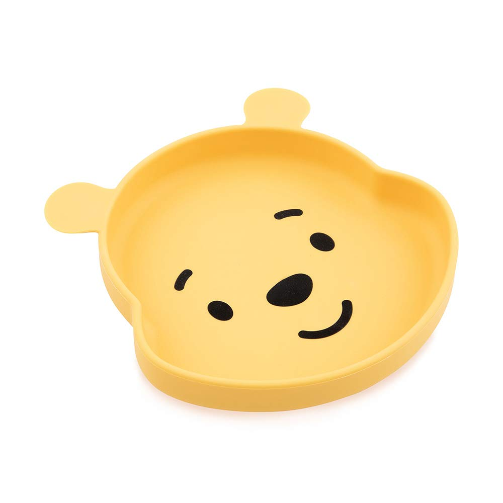 Bumkins Disney Silicone Grip Dish, Suction Plate, Divided Plate, Baby Toddler Plate, BPA Free, Microwave Dishwasher Safe - Winnie The Pooh