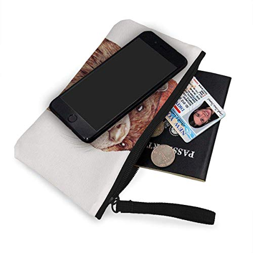Coin Otter 3d Wallets For Women Canvas River And Unisex Pattern Print Purse Fregrthtg Men g04ZpTqAW