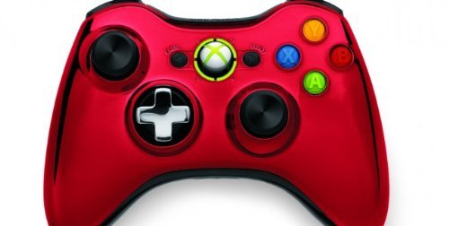 Xbox 360 Chrome Series Limited Edition Wireless Controller - Red (Best Xbox 360 Series)