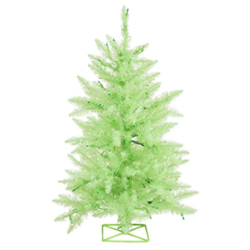 Vickerman B986021LED Artificial Christmas Tree with 115 PVC Tips & 35 Dura-Lit Italian LED Mini Lights, 2