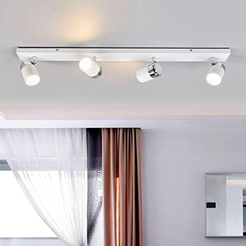 Lindby Strahler \'Kardo\' dimmbar (Modern) in Weiß aus Metall u.a. für Badezimmer (4 flammig, GU10, A++) - Deckenlampe, Deckenleuchte, Lampe, Spot, Badezimmerleuchte