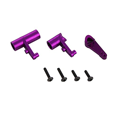 Redcat Racing Aluminum Servo Saver and Bell Crank Set, Purple