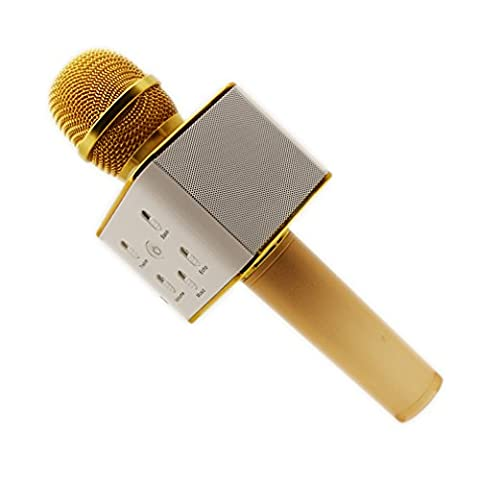 Q7 Multifunctional Portable Wireless Karaoke Microphone Supports for Mobile U Disk and All Ios and Android Smart - 5 Disc Karaoke Player