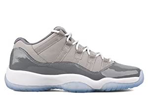 Jordan Men's Air 11 Retro Low, Medium Grey/White-Gunsmoke from AIR JORDAN